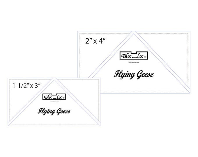 "Flying Geese Ruler Set 2 includes: 1-1/2"" x 3"" and 2"" x 4"""