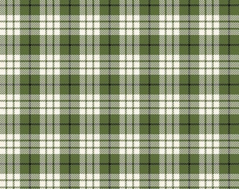 Winterberry - Green Plaid - My Mind's Eye - Riley Blake Designs - Christmas Fabric - Cut Options Available (C8444 GREEN)