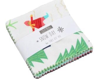 """Snow Day Mini Charm Pack by Stacy Iest Hsu - (42) 2.5"""" x 2.5"""" squares - Stacy Iest Hsu Snow Day for Moda Fabrics"""