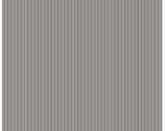 Riley Blake Designs, Tone-on-Tone 1/8 inch Stripe Gray (C225-Gray)