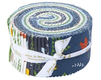 In The Forest Rolie Polie (40 pieces) by Riley Blake Designs (RP-8950-40) - Jelly Roll - Boy Fabric