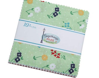 "Sugarhouse Park 5"" Stacker by Amy Smart (Diary of a Quilter) for Riley Blake Designs (5-8890-42) Charm Pack"