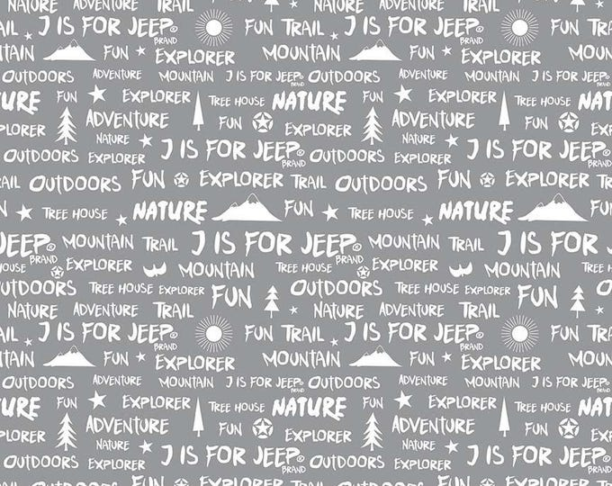 J Is For Jeep - Words Gray C6464