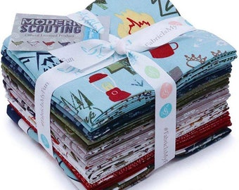 Modern Scouting 15 Fat Quarters 1 Panel Riley Blake Designs FQ-6200-16