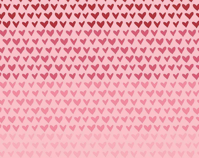 Hello Sweetheart Gradient Pink fabric by Echo Park Paper Co. for Riley Blake Designs (C7623-PINK)
