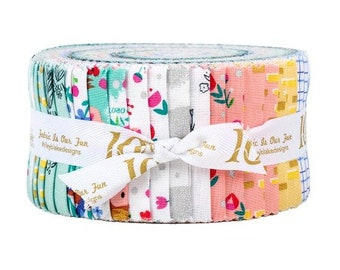 Dorothy's Journey Rolie Polie by Jill Howarth for Riley Blake Designs - Jelly Roll - Precut Fabric