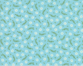 Harper's Garden Aqua Blooms by Sherri and Chelsi for Moda Fabrics (37574 17) Cut Options Available