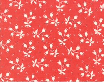 Scarlet and Sage Scarlet Berries by Fig Tree & Co. for Moda (20366 12) - Cut Options Available