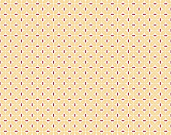 Sew Cherry 2 By Lori Holt Leaf Yellow SALE (C5806-Yellow) - Lori Holt Sew Cherry 2 - CLEARANCE fabric