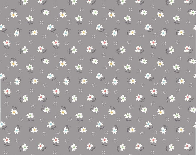 Farm Girl Vintage Daisy Gray by Lori Holt fabric (Bee in My Bonnet) (C7877-GRAY)