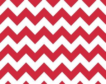 Riley Blake Designs, Medium Chevron in Red (C320 80)