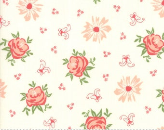Harper's Garden Ivory Roses by Sherri and Chelsi for Moda Fabrics (37570 11) Cut Options Available