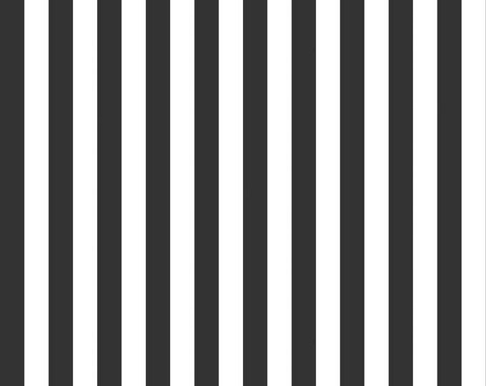 Riley Blake Designs, Half Inch Stripe in Black (C530-110)