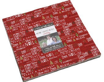 Merry Starts Here By Sweetwater - Layer Cake (5730LC) - Sweetwater Merry Starts Here for Moda Fabrics - Christmas Fabric