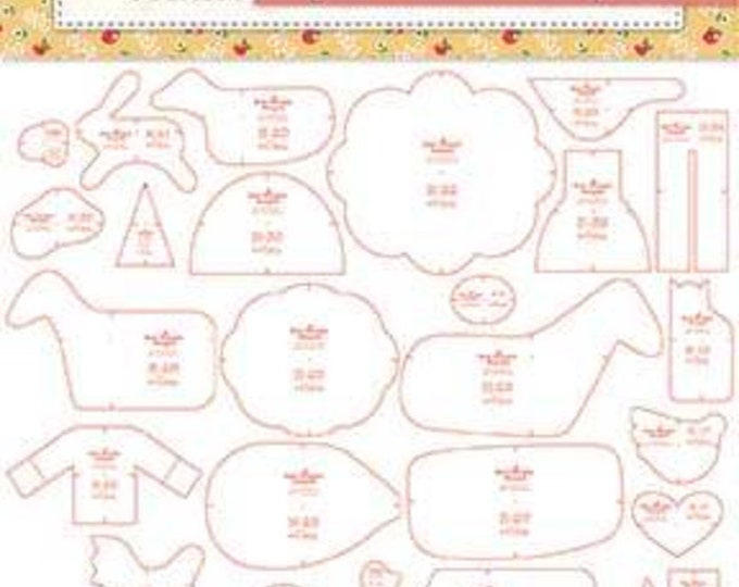 Farm Sweet Farm Sew Simple Shapes by Lori Holt - Includes 38 Templates