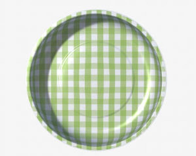Green Gingham Magnetic Pin Bowls by Pleasant Home