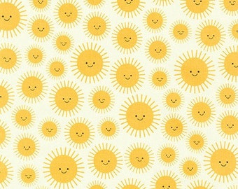 Yellow Sunshine by Ann Kelle from State to State by Robert Kaufman - Novelty Fabric (AAK-19305-5 YELLOW)
