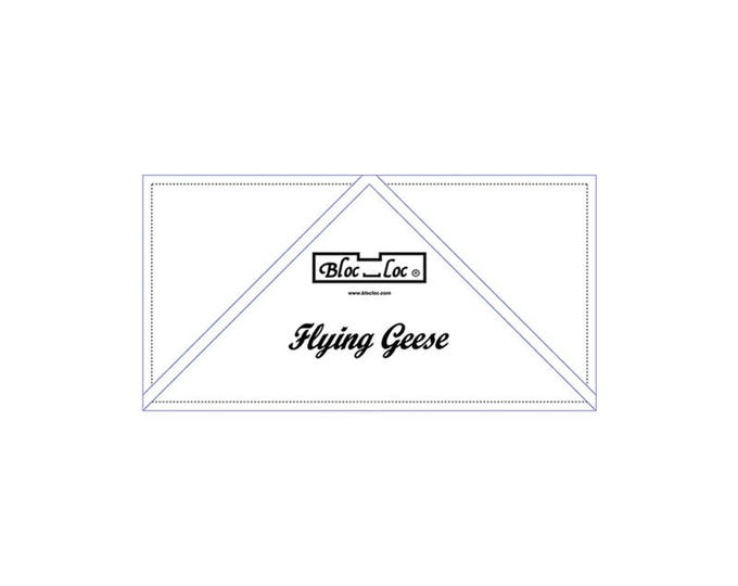 """Bloc Loc - Flying Geese Ruler 2"""" x 4"""" - Quilting Tool"""
