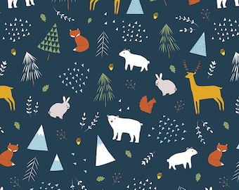 In The Forest Navy Main Yardage by Riley Blake Designs (C8950-NAVY) - Cut Options Available