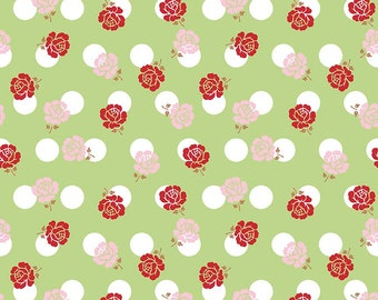 Sew Cherry 2 By Lori Holt Rose Green (C5801-Green)