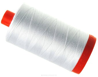 6 Pack of MK50 2024 - White - Aurifil Cotton Thread Large Spool (1422 yds)