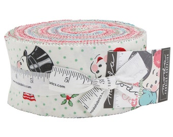 Sweet Christmas (31150JR) by Urban Chiks - Jelly Roll - Moda Fabrics Precut Fabric - Urban Chiks Sweet Christmas Jelly Roll