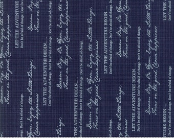 Sweet Tea Choose Happiness in Navy by Sweetwater for Moda Fabrics - (5721-25)