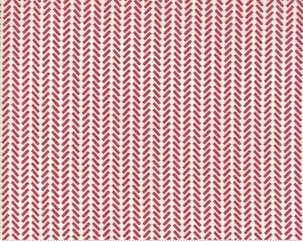 The Print Shop Red Against The Grain Yardage by Sweetwater for Moda Fabrics  (5744 21) - Cut Options Available