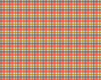 Golden Days Coral Plaid by Fancy Pants Design for Riley Blake Designs (C8604-CORAL) - Cut Options Available