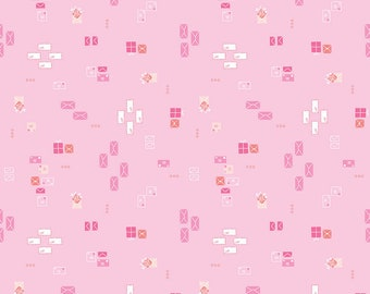 Pemberley Pink Dear Lizzie by Citrus and Mint Designs for Riley Blake Designs (C8826-PINK)  - Jane Austen Fabric