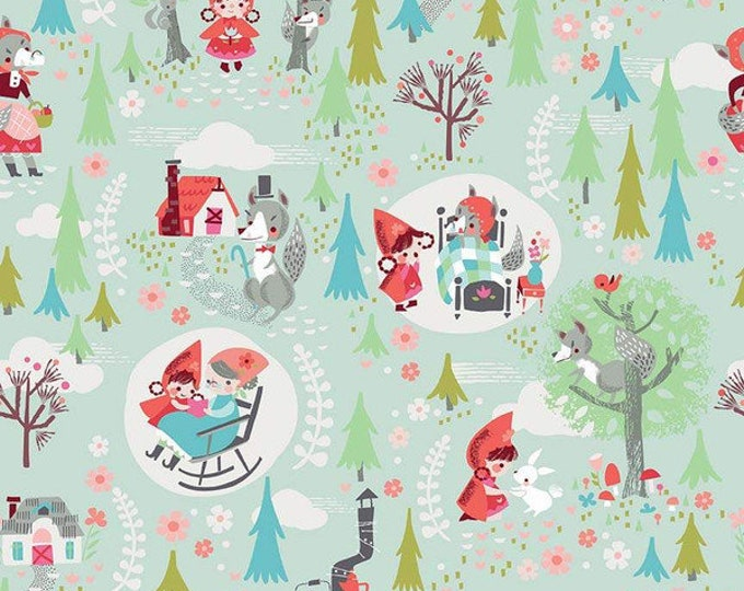 Little Red In The Woods Main Mint (C8080-MINT) by Jill Howarth