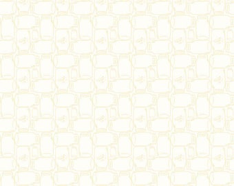 Cannin Jar Yellow Bee Backgrounds By Lori Holt (C6385-Yellow) - Lori Holt Fabric - Cotton Quilting Fabric - Low Volume Fabric