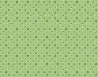 Granny Chic Green Kisses by Lori Holt (Bee in My Bonnet) (C8512 GREEN) - Riley Blake Designs - Lori Holt Granny Chic