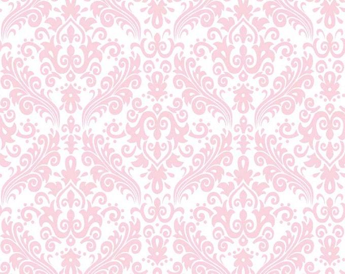 RBD, Medium Damask Baby Pink on White (C820 75)