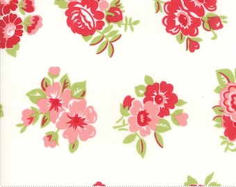 "Little Snippets Cream Marmalade Floral by Bonnie & Camille for Moda Fabrics (55188 15) - 31"" remnant"