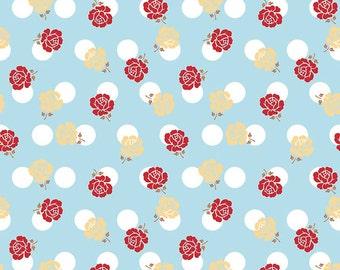 Sew Cherry 2 By Lori Holt Rose Aqua (C5801-AQUA)