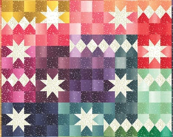 Carnival Quilt Kit, featuring Ombre Bloom fabric by V and Co. - Packaged by Moda Fabrics (KIT10870)