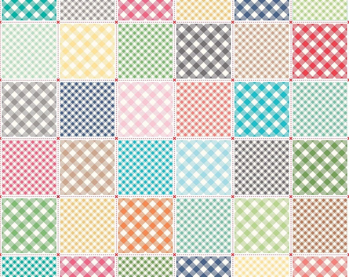Bee Backgrounds By Lori Holt Busy Patchwork White (C6392-White)