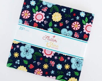 """Flutter and Shine 10"""" Stacker  by Melanie Collette for Riley Blake Designs - Precut Fabric - 10"""" x 10"""" square fabric"""