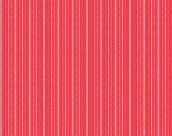 Sugarhouse Park Red Stripe Yardage by Amy Smart (Diary of a Quilter) for Riley Blake Designs (C8895-RED) Cut Options Available