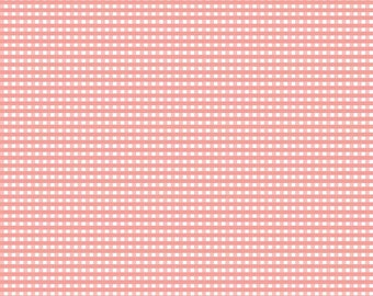 Coral Small Gingham by Riley Blake Designs  (C440 54) Gingham Fabric - Coral - Basic Fabrics - Quilting Cotton Fabric
