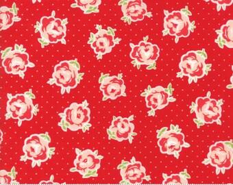 Smitten (55177 11) Red Lovely Bonnie & Camille - 1/2 yard piece