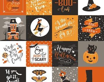 Fab-Boo-Lous Main - Orange (C8170 ORANGE) Fab-boo-lous by Dani Mogstad for Riley Blake Designs
