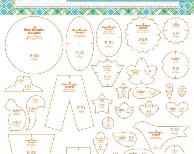 Autumn Love Sew Simple Shapes by Lori Holt - Includes 34 Templates
