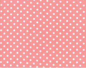 Little Snippets Coral Dot by Bonnie & Camille for Moda Fabrics (55185 13)