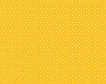 White Swiss Dots on Mustard, Riley Blake Designs (C670 Mustard)