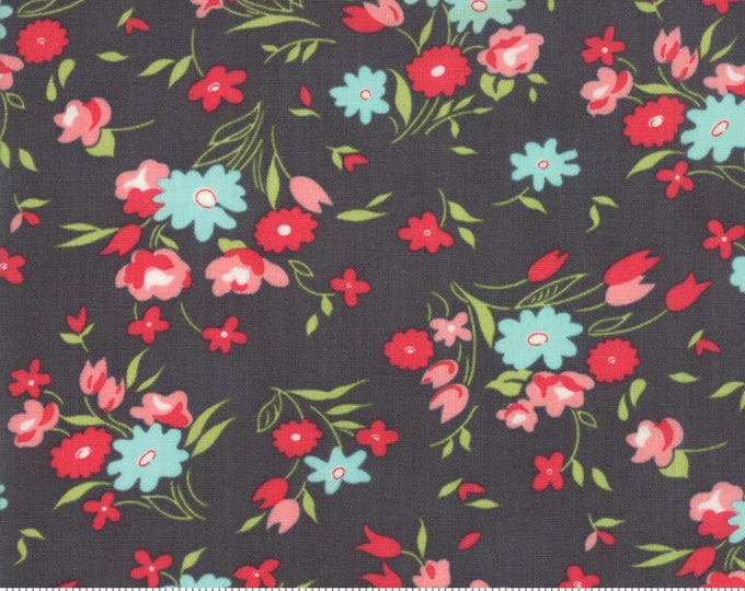 Little Snippets Charcoal Fresh Cut Floral by Bonnie & Camille for Moda Fabrics (55182 16)