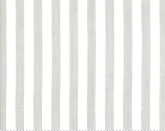 Bonnie and Camille Wovens Gray Stripe for Moda Fabrics  (12405 28) - Gray Stripe Fabric - Woven Fabric