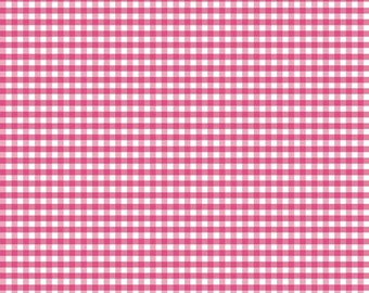 Riley Blake Designs, Small Gingham in Hot Pink (C440 70)