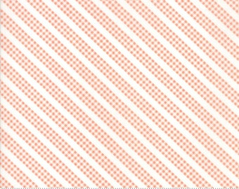 Sunnyside Up Bias Gingham in Coral (Peach) by Corey Yoder (Little Miss Shabby) for Moda (29058 25)